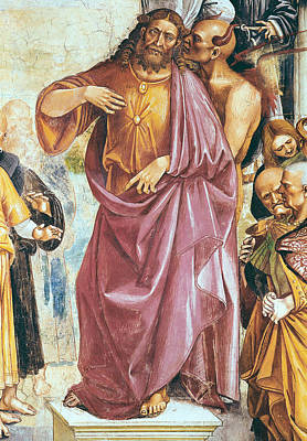 The Preaching Of The Antichrist Print by Luca Signorelli