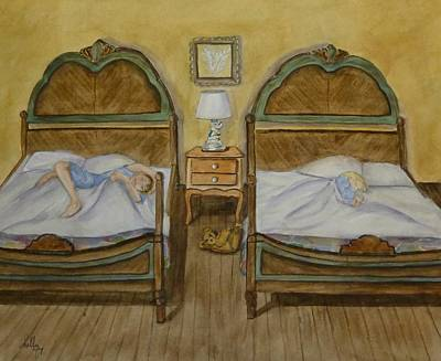 Old Fashion Bedtime Print by Kelly Mills
