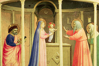Temple Painting - The Presentation In The Temple by Fra Angelico