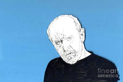 The Priest On Blue Print by Jason Tricktop Matthews