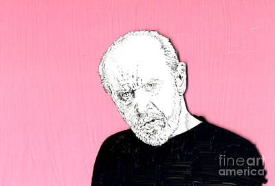 The Priest On Pink Print by Jason Tricktop Matthews
