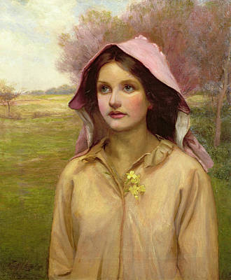 Primroses Painting - The Primrose Girl by William Ward Laing
