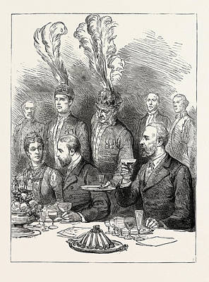 The Prince Of Wales In Sweden The Farewell Lunch Print by Swedish School