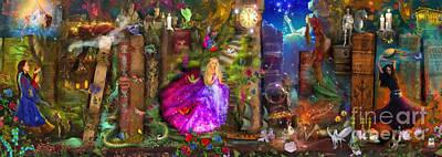 Panoramic Digital Art - The Princesses by Aimee Stewart