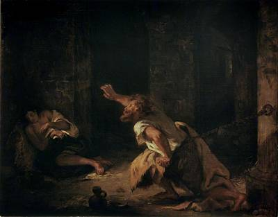 Dungeon Painting - The Prisoner Of Chillon by Ferdinand Victor Eugene Delacroix