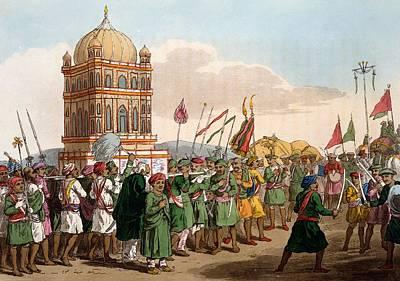 Elephant Drawing - The Procession Of The Taziya, From The by Deen Alee