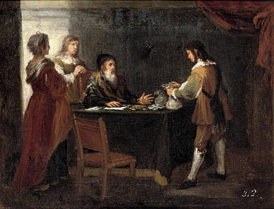 Prodigal Son Painting - The Prodigal Son Receiving His Portion Of The Inheritance by Bartolome Esteban Murillo