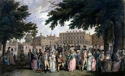 The Promenade In St James Park, C.1796 Print by Edward Days