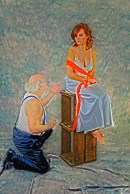 Seated Nude Girl Photograph - The Proposal by Frank Cotton