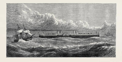 Enabled Drawing - The Proposed Channel Ferry The Ferry Steamer The Steamer by English School