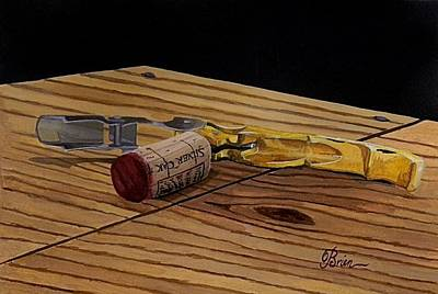 Virginia Wine Painting - The Pull by Brien Cole