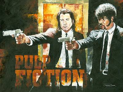 Samuel L Jackson Painting - The Pulp Fiction by Christiaan Bekker