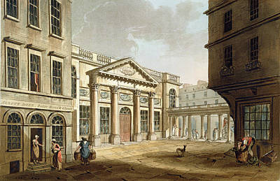 The Pump Room, From Bath Illustrated Print by John Claude Nattes