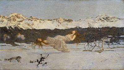 Giovanni Segantini Painting - The Punishment Of Lust by Giovanni Segantini