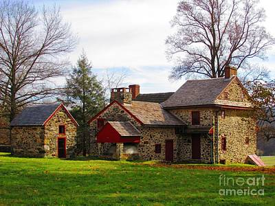 Brandywine Battlefield Photograph - The Quaker's House by Christina Zettner