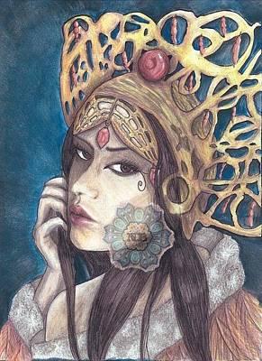 The Queen Print by Kiekee