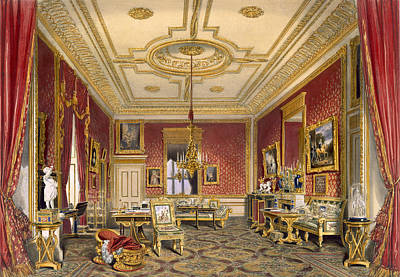 The Queens Private Sitting Room Print by James Baker Pyne