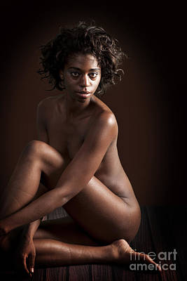 Nude Photograph - The Question From An African Nude by Kendree Miller