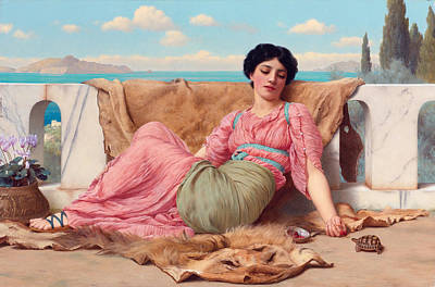 John William Godward Painting - The Quiet Pet by John William Godward