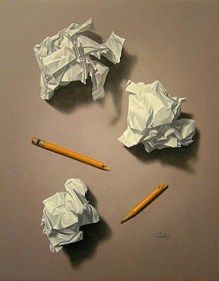 Hyperrealism Painting - The Quiet Muse by Timothy Jones