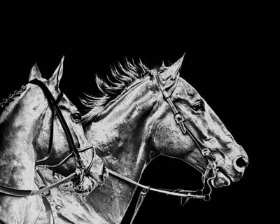 Race Horse Digital Art - The Racers by Camille Lopez