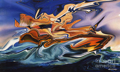Louvre Digital Art - The Raft Of The Jellyfish Or Le Radeau De La Meduse by Christian Simonian
