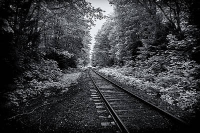 Doppelganger Photograph - The Railway Tracks by Alex Land