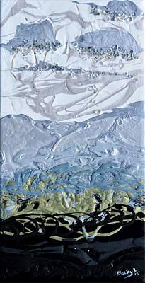 The Rain Began To Fall Print by Donna Blackhall