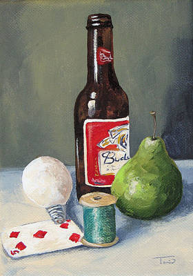 Budweiser Beer Painting - The Random Five  by Torrie Smiley
