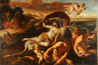 Giovanni Lanfranco Painting - The Rape Of Europa by Giovanni Lanfranco