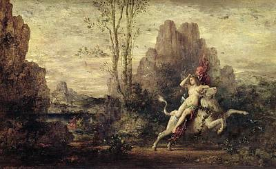 Zeus Painting - The Rape Of Europa by Gustave Moreau