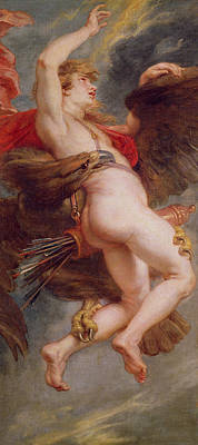 Zeus Painting - The Rape Of Ganymede by Rubens