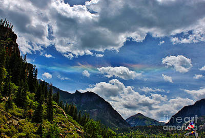 A Summer Evening Landscape Photograph - The Rare Phenomena Rainbows by Janice Rae Pariza