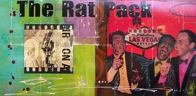 Gino Painting - The Rat Pack by Gino Savarino