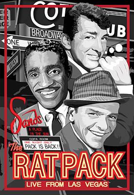 Frank Sinatra Digital Art - The Rat Pack Poster by Dagmara Czarnota