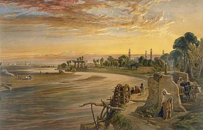 Ravi Drawing - The Ravee River, From India Ancient by William 'Crimea' Simpson