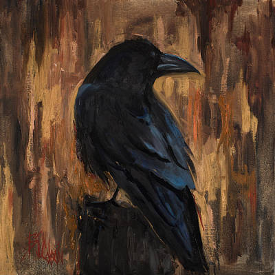 Moody Painting - The Raven by Billie Colson
