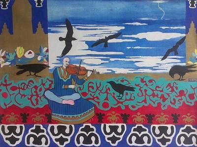 The Raven Musicologist Print by Karim Lachheb