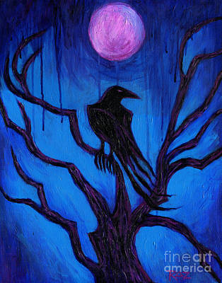 The Raven Nevermore Print by Roz Abellera Art