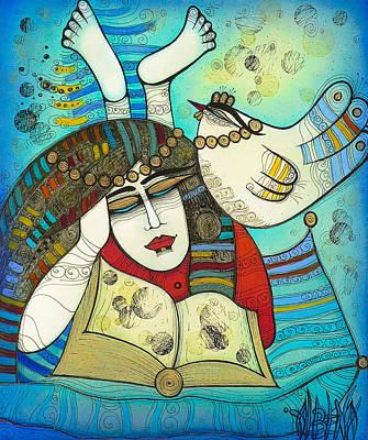 Painting - The Reader by Albena Vatcheva