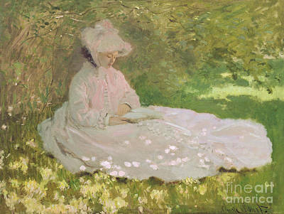 Oil Portrait Painting - The Reader  by Claude Monet