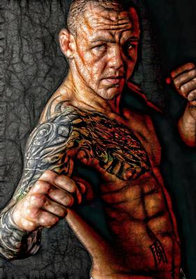 Cage Fighter Digital Art - The Real Deal by John Lynch