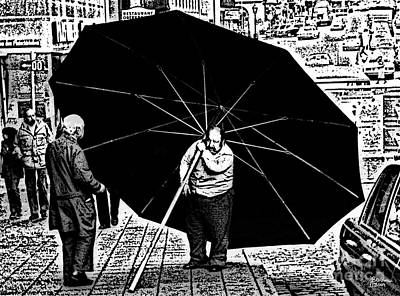 The Really Big Umbrella Print by Jeff Breiman