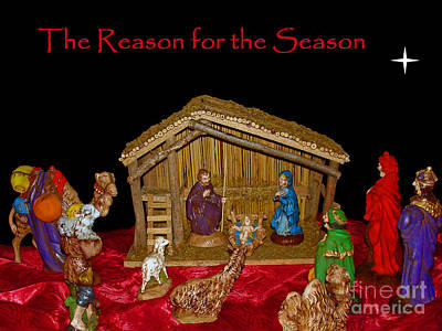 The Reason For The Season Print by Sue Melvin