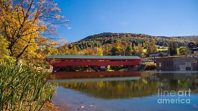 Taftsville Photograph - The Rebuilt Taftsville Covered Bridge by New England Photography