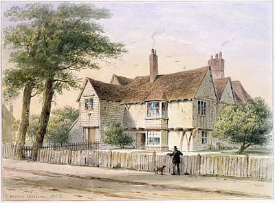 The Rectorial House, Newington Butts, 1852 Wc On Paper Print by Thomas Hosmer Shepherd