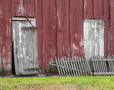 Farm Photograph - The Red Barn by Kim Bemis