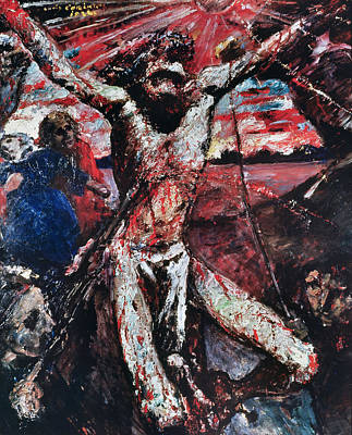 The Red Christ Print by Lovis Corinth