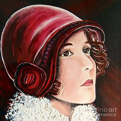 Alluring Painting - The Red Cloche by Barbara Chase