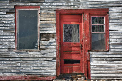The Red Door Print by Eric Gendron